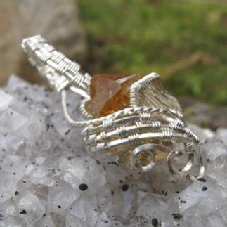 Sterling Citrine Pendant