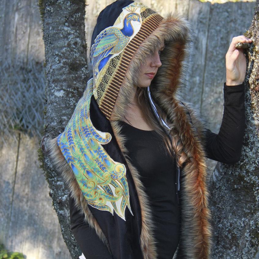 Peacock Hoodwrap