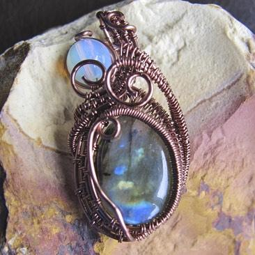 Labradorite and Moonstone